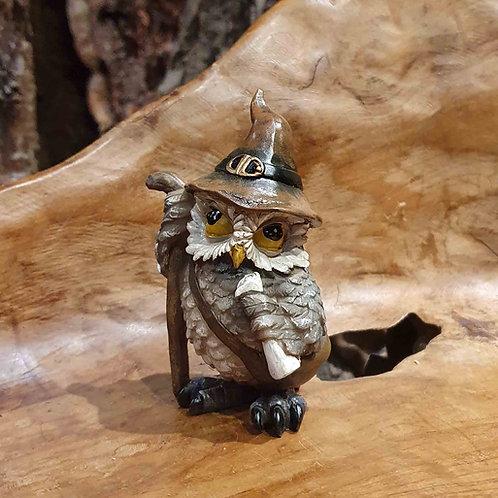 traveler wizard owl fantasy uiltje tovenaar uil beeldje uilenbeeldje
