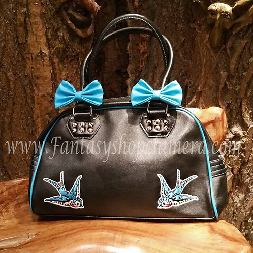 hand bag lady ladies shouder schouder tas handtas 50's stijl style