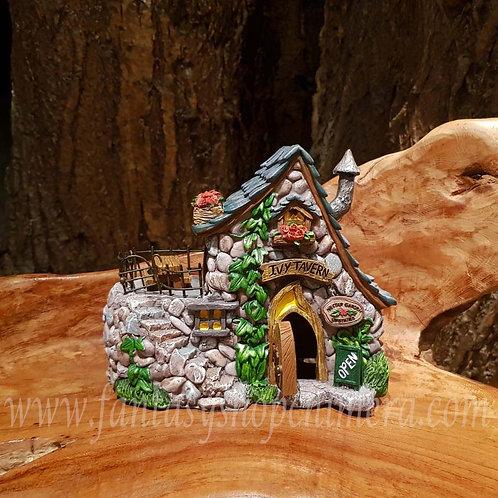 Ivy tavern fairy house cottage elfenhuisje tuin pixie huisje miniatuur sprookjes garden figurine kabouter gnome