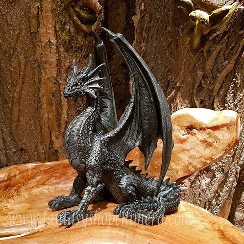 Narcos black dragon figurine zwart drakenbeeld zwarte draak kopen drakenwinkel fantasy shop