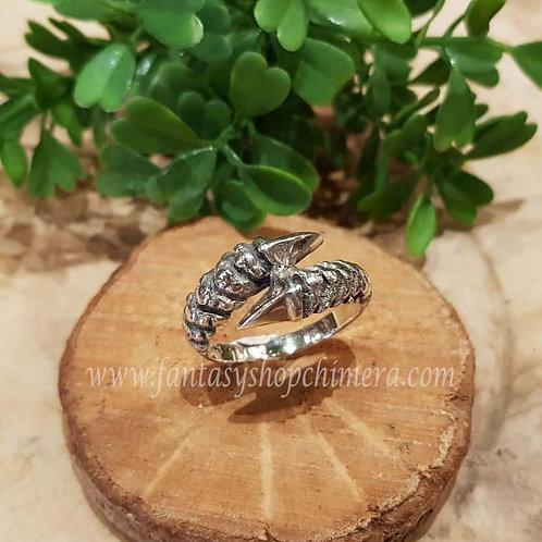 dragon claw nail ring drakennagel draken klauw silver zilver jewelry jewllery sieraden winkel fantasy shop amsterdam