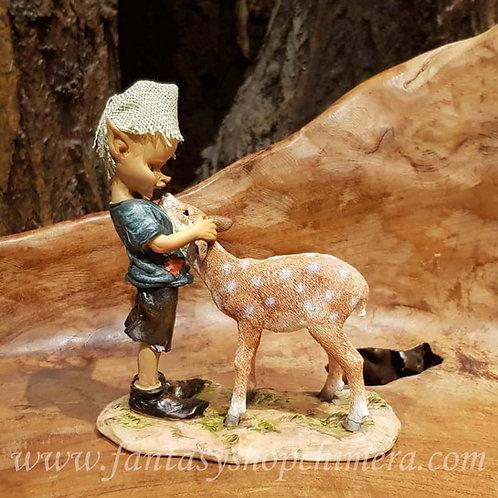 my best friend pixie with deer figurine hertje kabouter beeldje fantasy shop amsterdam