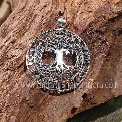 tree of life zodiac horoscope silver pendant zilveren hanger levensboom horoscoop sieraden