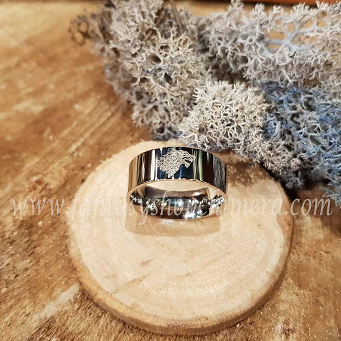 Wolf house stark winterfell ring GoT stainless steel jewellery jewelry sieraden elfen script fantasy stories magical magie