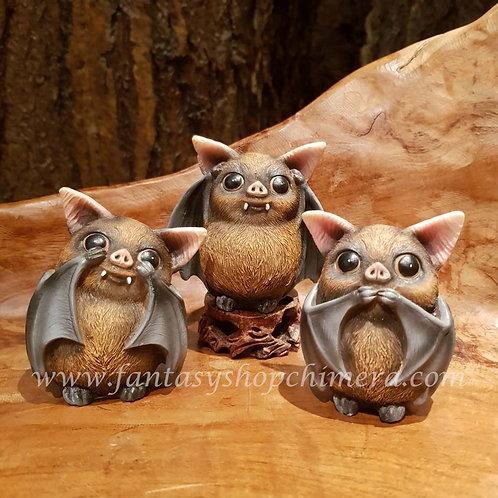 3 wise vleermuizen bats horen zien zwijgen hear no see no figurines beeldjes kopen winkel shop amsterdam