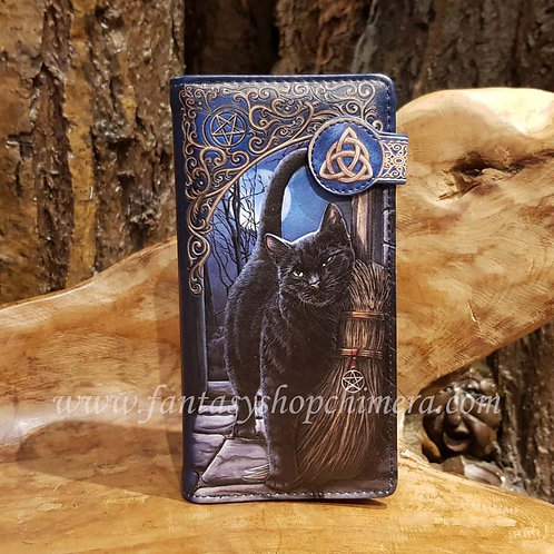 brush with magick purse wallet lisa parker black cat witch witchcraft wicca