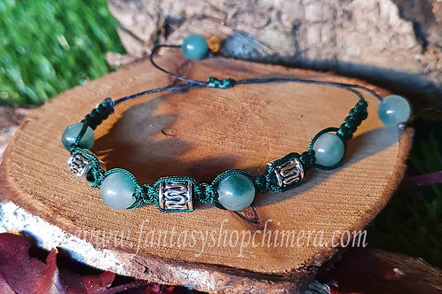 Jade healing stone gem bracelet power symbol helende stenen armband boho bohemian