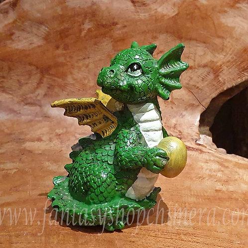 Baby dragon green groen dragonling figurine draakje draken drakenbeeldje kopen fantasy shop chimera