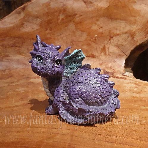 Baby dragon purple paars dragonling figurine draakje draken drakenbeeldje kopen fantasy shop chimera