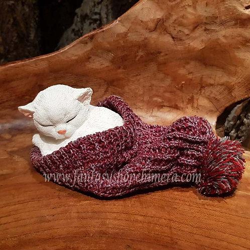 Winter kitten cat hat poesje beeldje slapend figurine katje muts cadeautjeswinkel fantasy store shop amsterdam