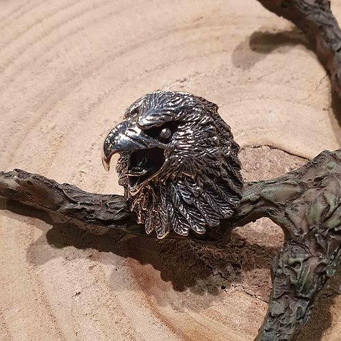 eagle ring silver head adelaar kop zilveren ring