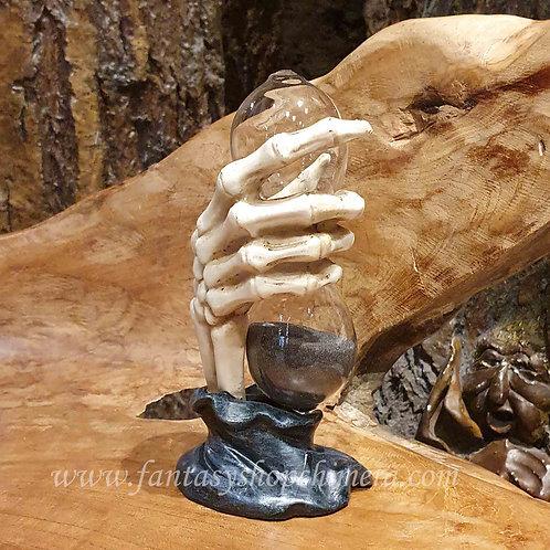 too late grimm reaper hourglass zandloper skeleton skelet hand