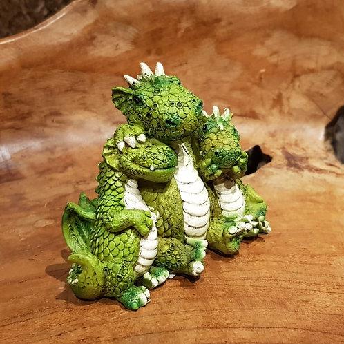 funny dragons hear no see no horen zien zwijgen beeldje draken