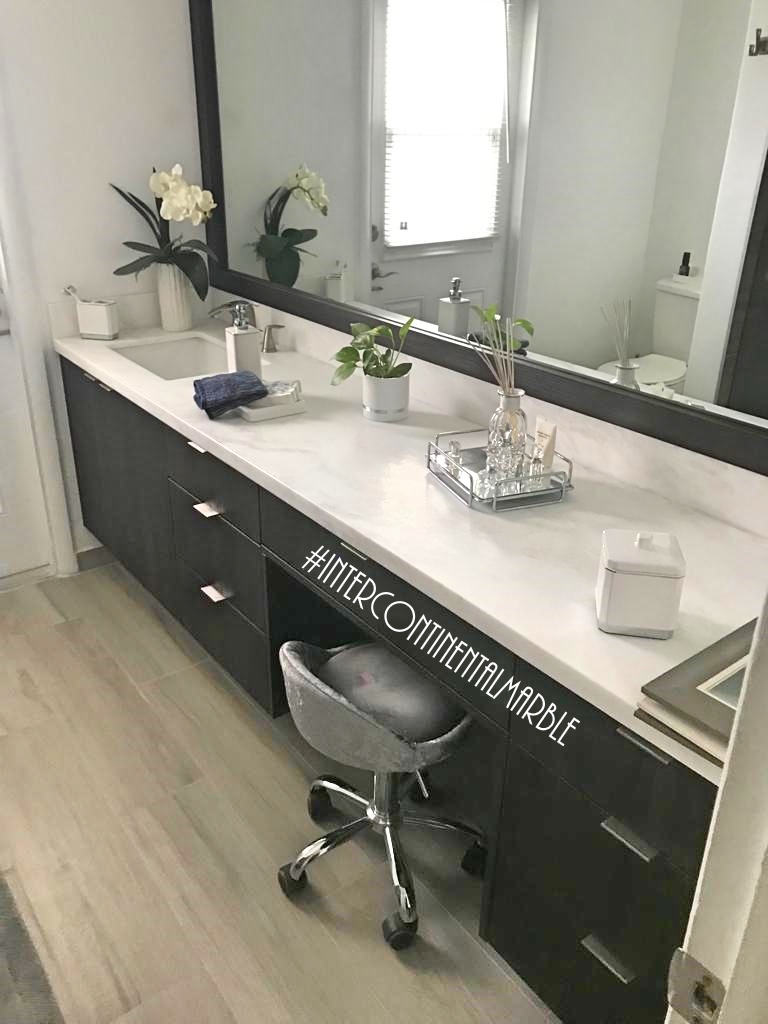 White Mystery Bathroom Counter