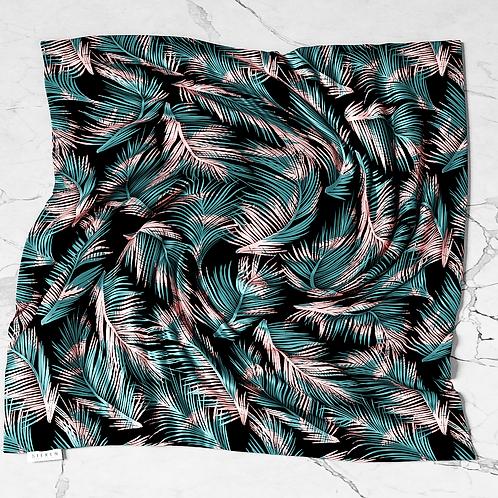 Midnight Palm Silken Scarf
