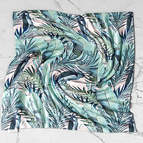 Pretty Palm Silken Scarf