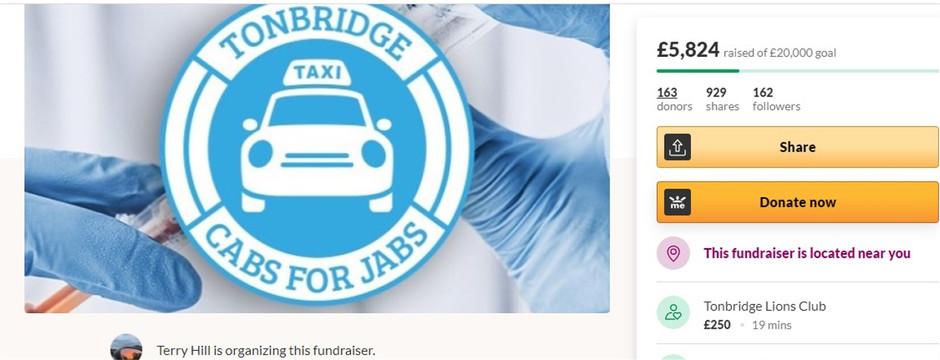 Cabs for Jabs in Tonbridge