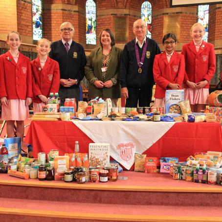 Hilden Oaks School donate their Harvest