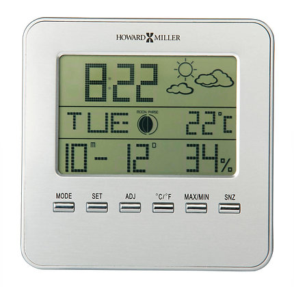 WEATHER VIEW TABLETOP CLOCK