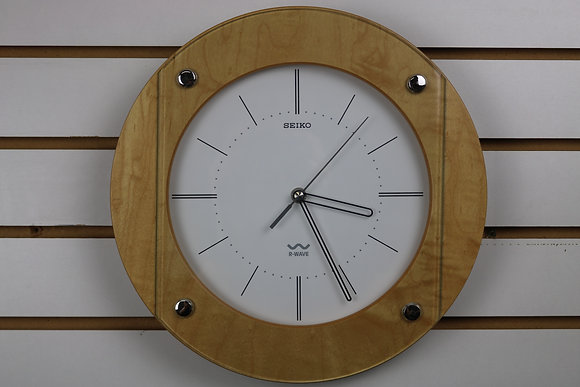 Seiko R-WAVE Wood and Glass Clock