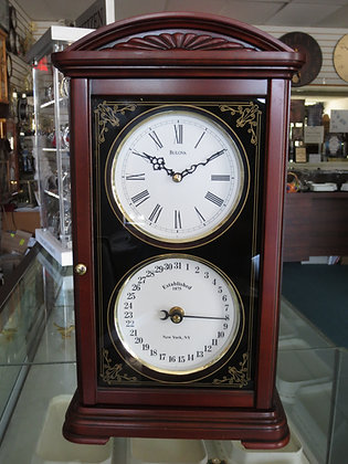 Bulova Calendar Quartz Mantel Clock