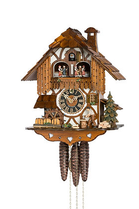 Wood Chopper Chalet Black Forest Imports Cuckoo