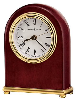 ROSEWOOD ARCH TABLETOP CLOCK