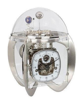 Astro Mantel Clock Nickel Hermle