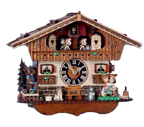 Kissing Clock! Black Forest Imports Cuckoo