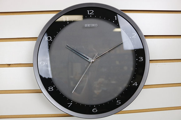 Seiko Black Modern Wall Clock