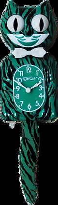 Mystical Green Tiger Kit-Cat® Klock