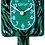 Thumbnail: Mystical Green Tiger Kit-Cat® Klock