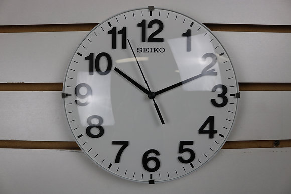 Seiko Small Round Clock with Quiet Sweep
