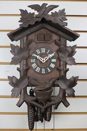 Rare 2 Bird Quail and Cuckoo Clock
