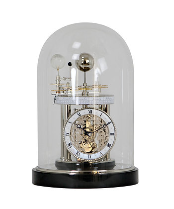 Astrolabium Black Mantel Clock Hermle