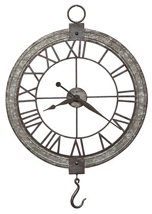 CLOCK PULLEY WALL CLOCK