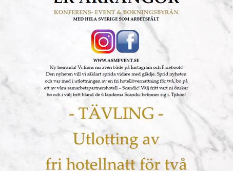 Tävla om en fri hotellnatt för två - på valfritt Scandichotell!