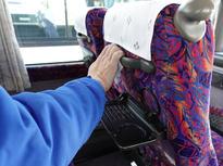 乗車前後の手すり、机の除菌