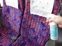 乗車前後の座席の消毒
