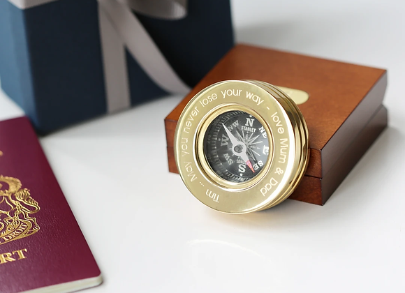 Personalised Compass With Timber Box