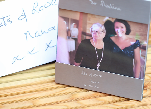Photo Frame +Your Own Handwriting Engraved