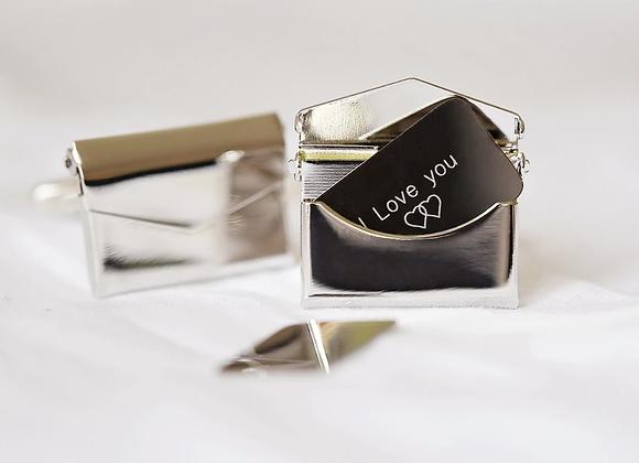 Secret Message Engraved Cufflinks