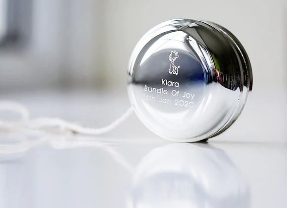 Silver Plated Engraved YoYo