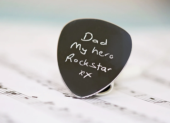 Guitar Pick +Your Own Handwriting