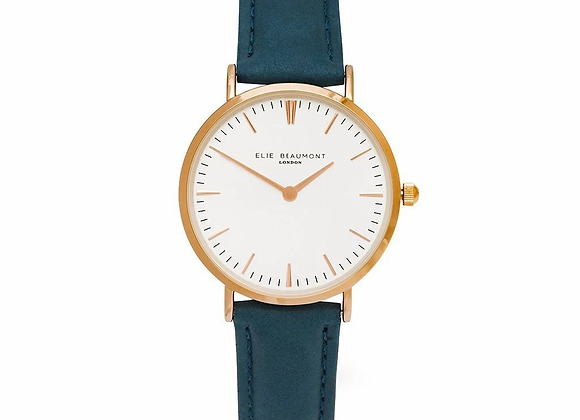 Small Elie Beaumont Oxford Blue Ladies Watch + Your Own Handwriting