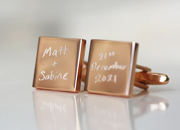 Handwriting Engraved Cufflinks