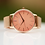 Thumbnail: Ladies Architēct Coral +Your Own Handwriting + Rose Gold Mesh Strap