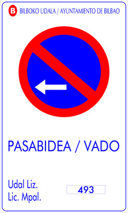 PLACAS VADO