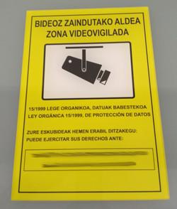 Placa Videovigilancia