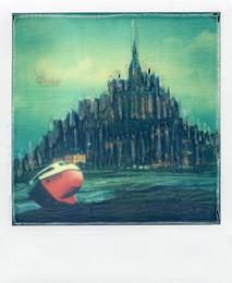 Mont S Michel - Polaroid Artistic TZ Manipolata